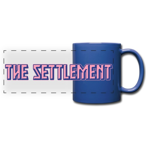 Band Name (Two-Color) | The Settlement - Full Color Panoramic Mug