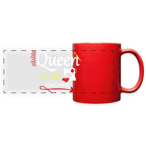 QUEEN OF THE MACHINE - Full Color Panoramic Mug