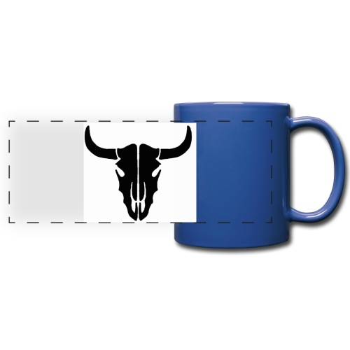 Longhorn skull - Full Color Panoramic Mug