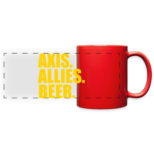 Axis. Allies. Beer. Axis & Allies - Full Color Panoramic Mug