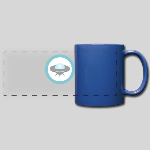 ALIENS WITH WIGS - Small UFO - Full Color Panoramic Mug
