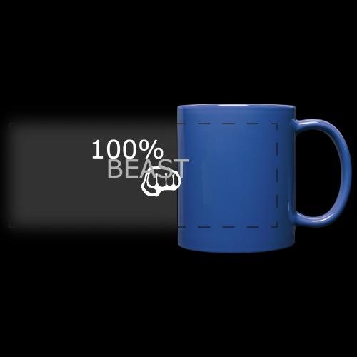 100% beast logo white - Full Color Panoramic Mug
