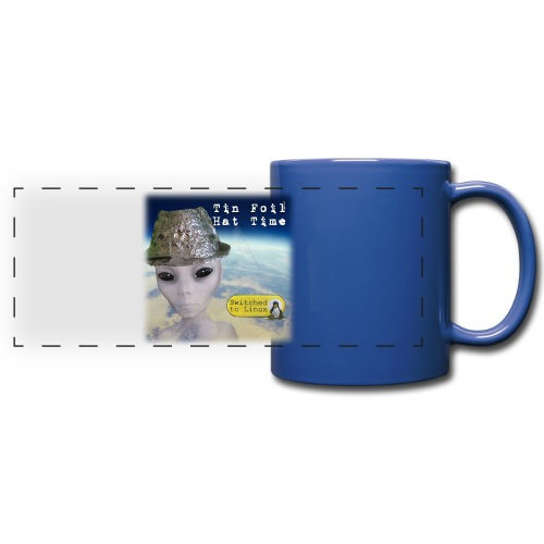 Tin Foil Hat Time (Earth) - Full Color Panoramic Mug