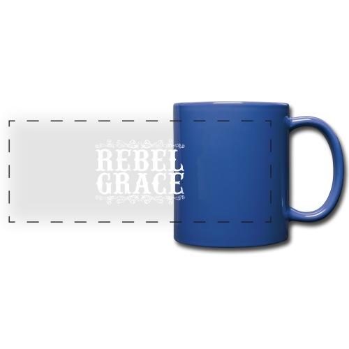 White Filigree - Full Color Panoramic Mug