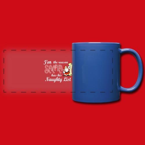 Santa Naughty List - Full Color Panoramic Mug