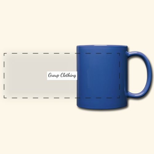 Cursive Black and White Hoodie - Full Color Panoramic Mug