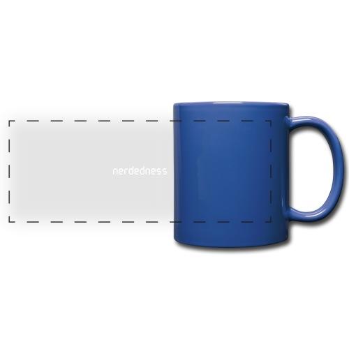 nerdedness segment text logo - Full Color Panoramic Mug