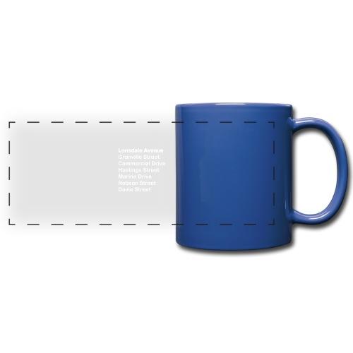 Street Names White Text - Full Color Panoramic Mug