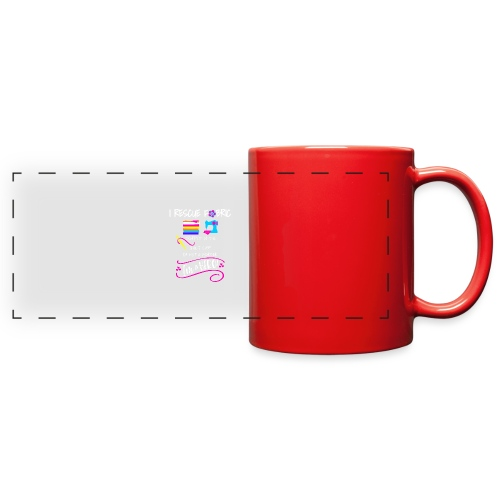 I rescue fabric trapped in the quilt shop - Full Color Panoramic Mug