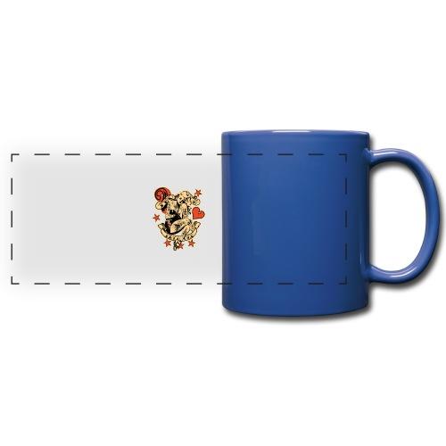 Screwed & tattooed Pin Up Zombie - Full Color Panoramic Mug