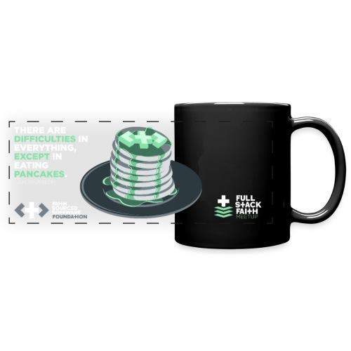 Difficulty Free Pancakes - Inverse - Full Color Panoramic Mug