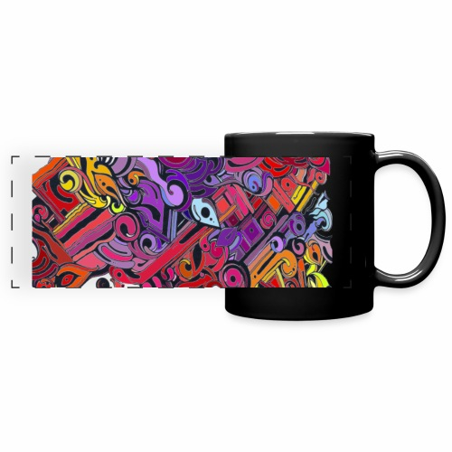 Wall painting closeup detroit cut3 2500pxl gif - Full Color Panoramic Mug