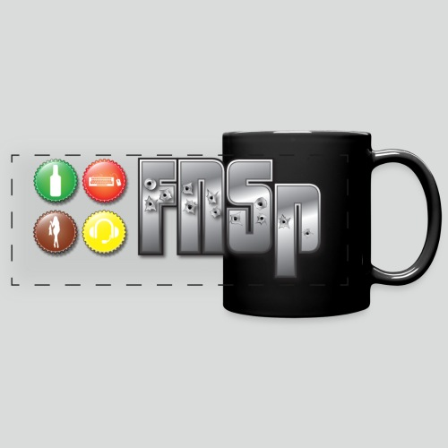FNSp Bottletops logo design - Full Color Panoramic Mug