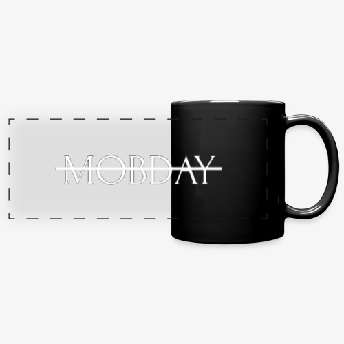 Mobday Cross Out Logo - Full Color Panoramic Mug