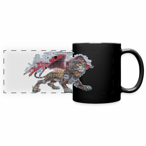 Lion cut 2000pxl gif - Full Color Panoramic Mug