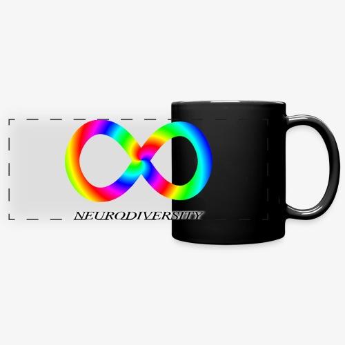 Neurodiversity with Rainbow swirl - Full Color Panoramic Mug