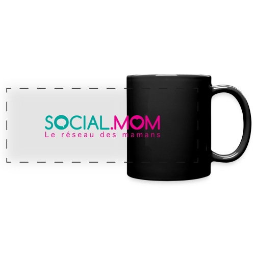 Social.mom logo français - Full Color Panoramic Mug