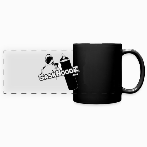 saskhoodz logo black - Full Color Panoramic Mug