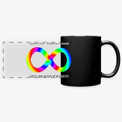 Embrace Neurodiversity with Swirl Rainbow - Full Color Panoramic Mug