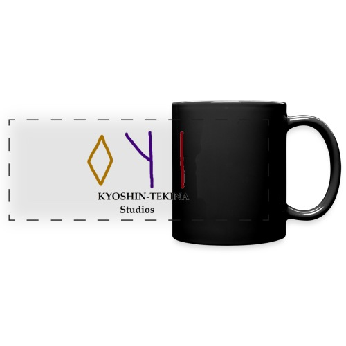 Kyoshin-Tekina Studios logo (black test) - Full Color Panoramic Mug