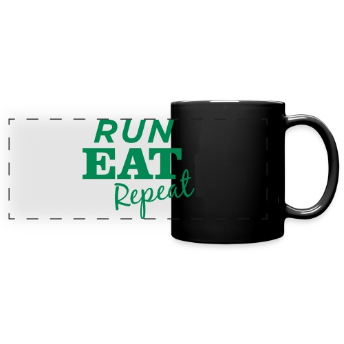 Run Eat Repeat buttons medium - Full Color Panoramic Mug