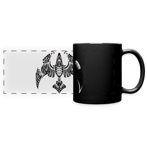 Hawk Totem - Full Color Panoramic Mug