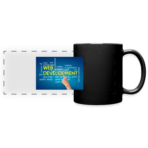 web development design - Full Color Panoramic Mug