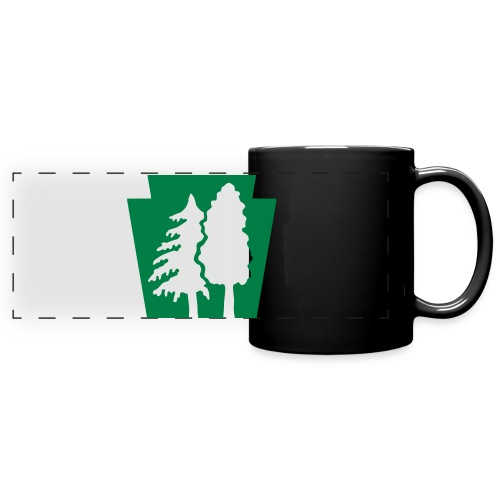 PA Keystone w/trees - Full Color Panoramic Mug