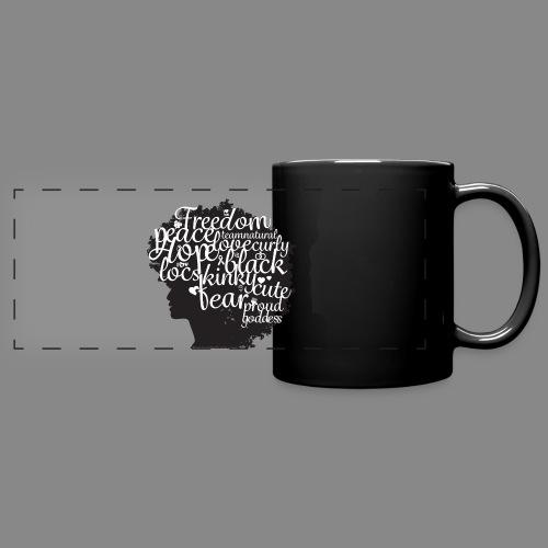 Afro Text II - Full Color Panoramic Mug