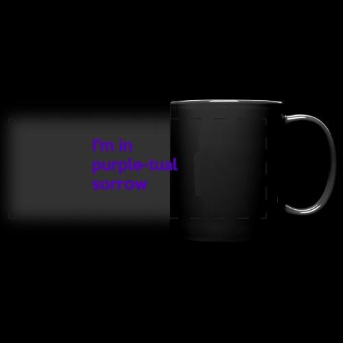 Purple-tual sorrow - Full Color Panoramic Mug