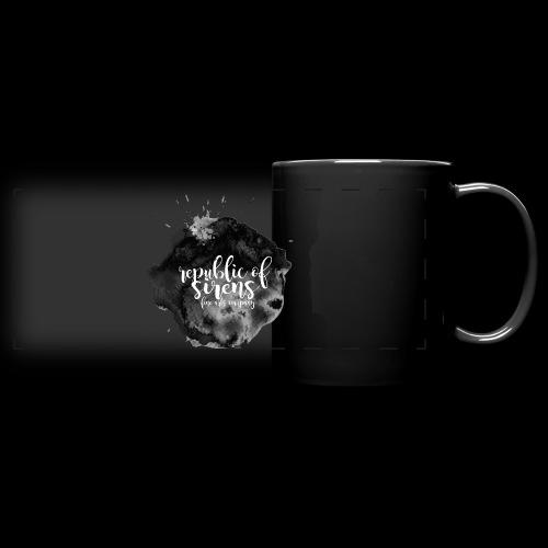 ROS FINE ARTS COMPANY - Black Aqua - Full Color Panoramic Mug