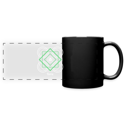 Terra Earth Element Alchemy Design - Full Color Panoramic Mug