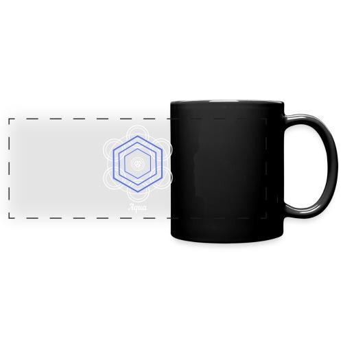 Aqua Water Element Alchemy Design - Full Color Panoramic Mug