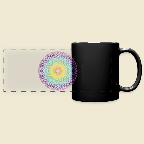 Torus Yantra Hypnotic Eye rainbow - Full Color Panoramic Mug