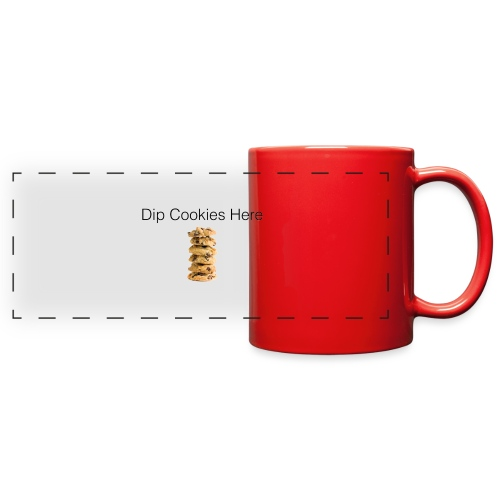 Dip Cookies Here mug - Full Color Panoramic Mug