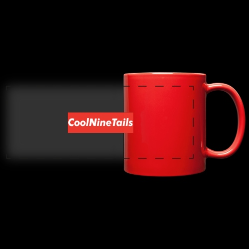 CoolNineTails supreme logo - Full Color Panoramic Mug