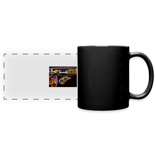 Melted Neon Dali - Full Color Panoramic Mug