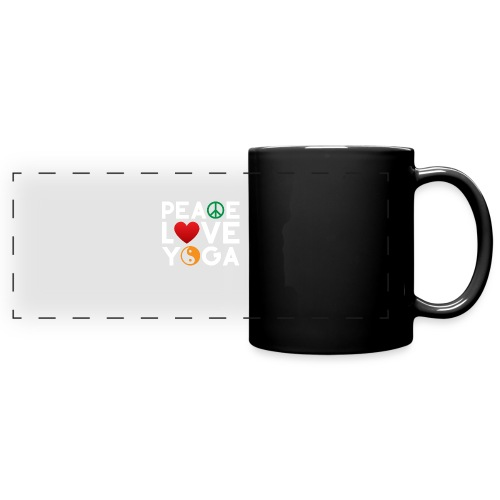 Peace Love Yoga - Full Color Panoramic Mug