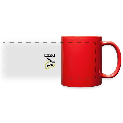 Nurses save lives yellow - Full Color Panoramic Mug