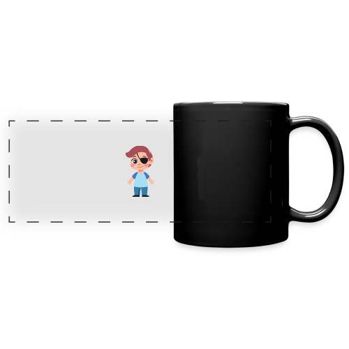 Boy with eye patch - Full Color Panoramic Mug