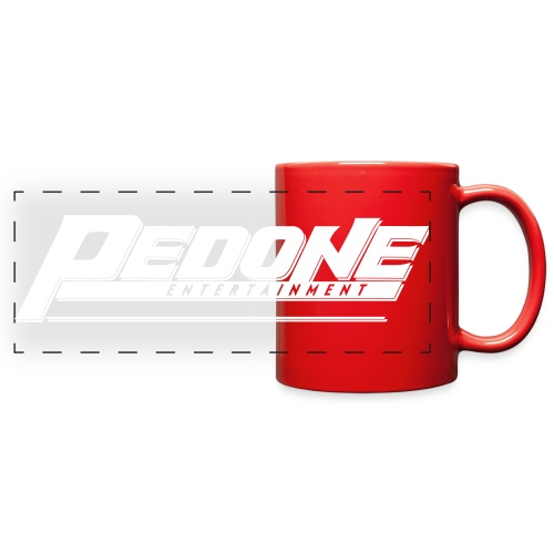 PE Logo Primary Mono Whit - Full Color Panoramic Mug