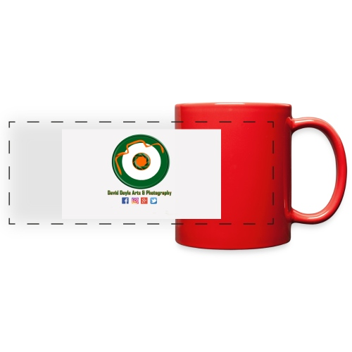David Doyle Arts & Photography Logo - Full Color Panoramic Mug