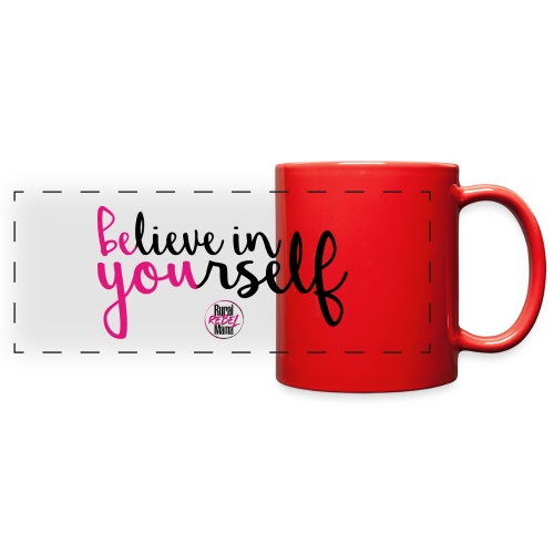 BE YOU shirt design w logo - Full Color Panoramic Mug