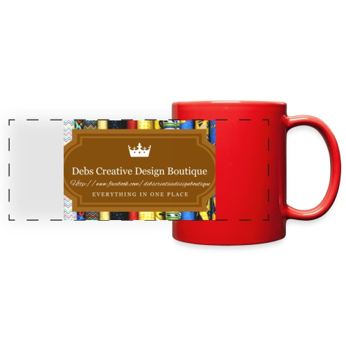 Debs Creative Design Boutique with site - Full Color Panoramic Mug