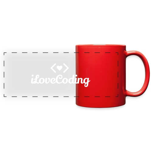 I Love Coding - Full Color Panoramic Mug