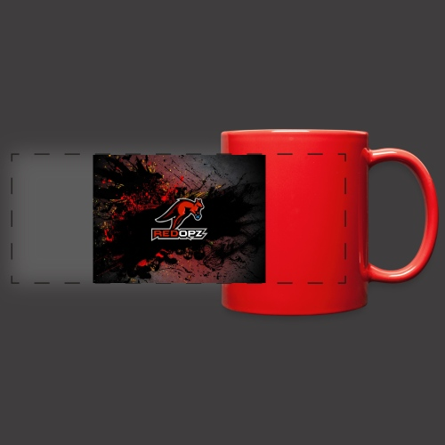 RedOpz Splatter - Full Color Panoramic Mug