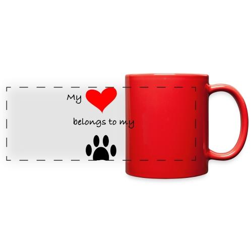 Dog Lovers shirt - My Heart Belongs to my Dog - Full Color Panoramic Mug