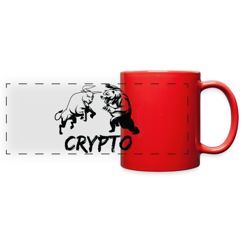 CryptoBattle Black - Full Color Panoramic Mug