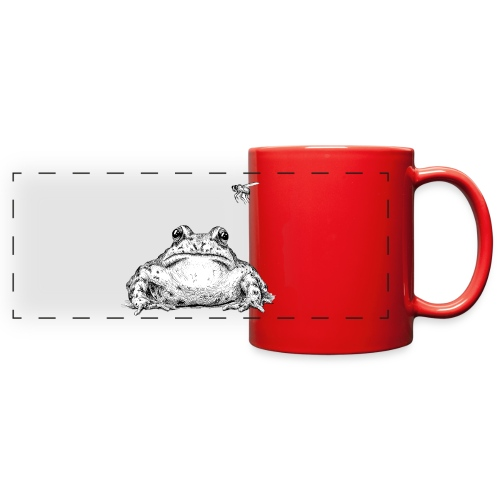 Frog with Fly by Imoya Design - Full Color Panoramic Mug