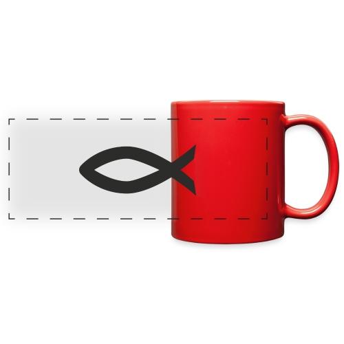 Christian fish symbol - Full Color Panoramic Mug